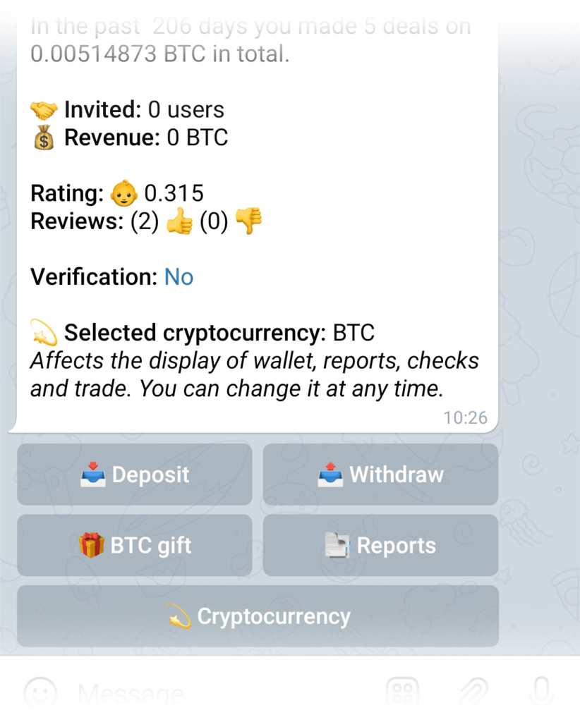 Verification status in wallet information