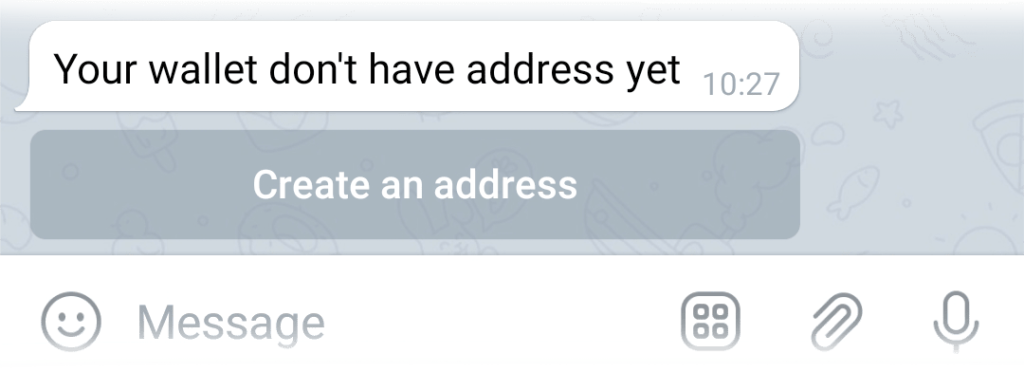 Create an address button