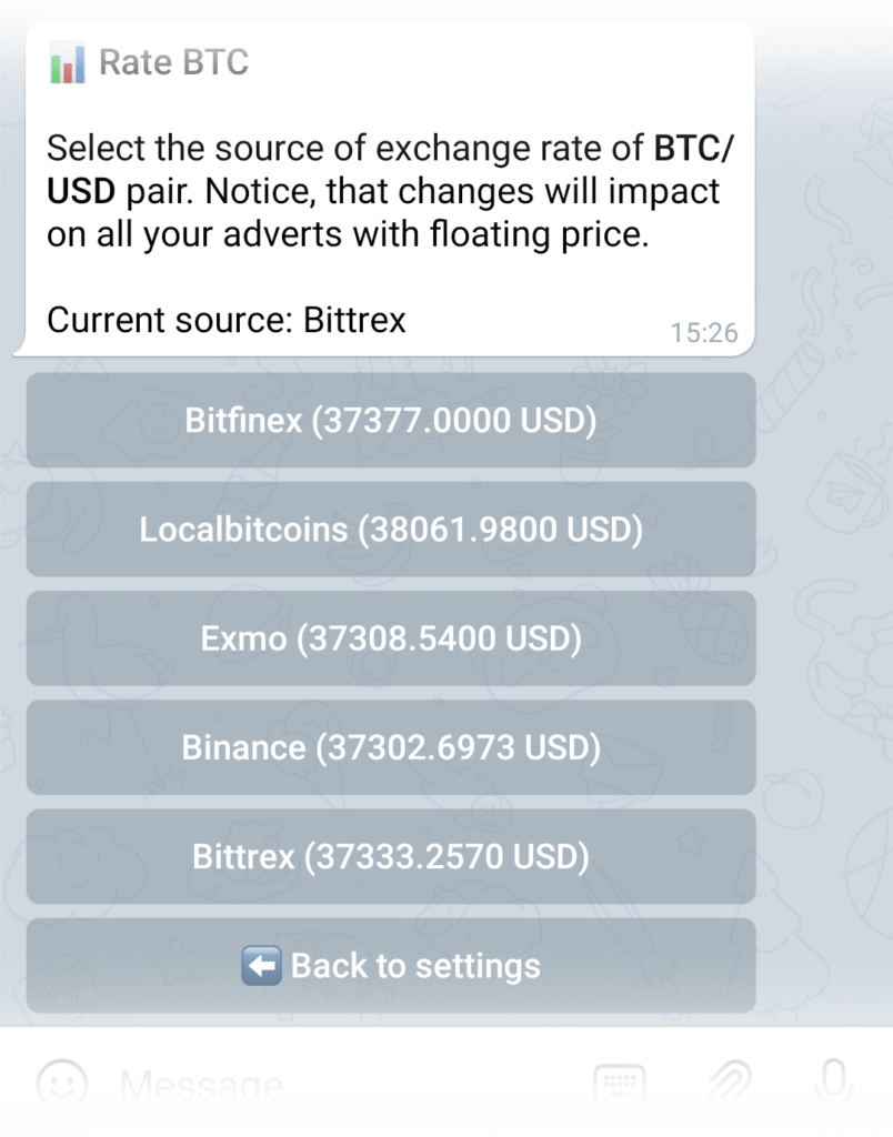 Selecting the source of exchange rate