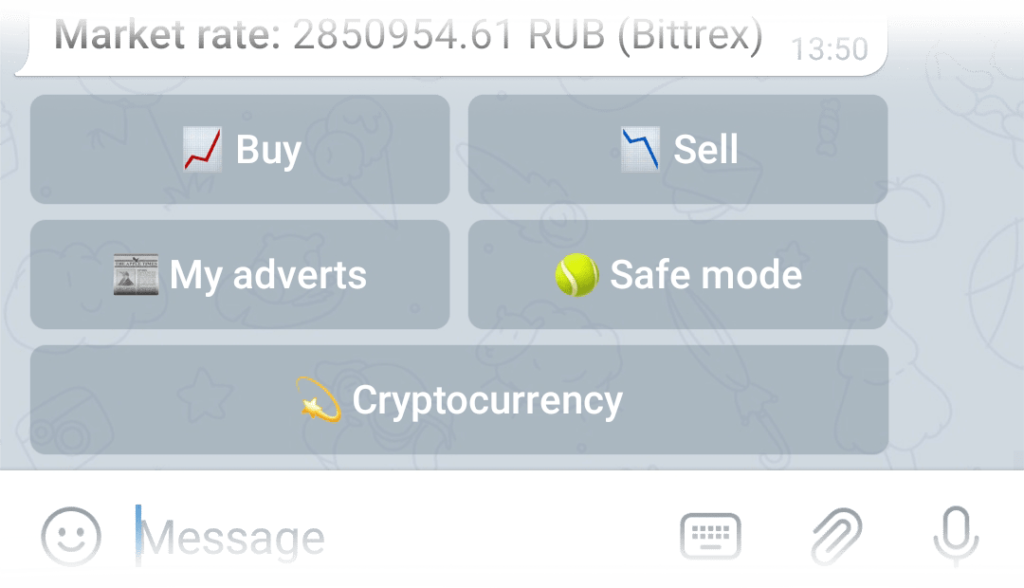 Buy button in the Exchange menu
