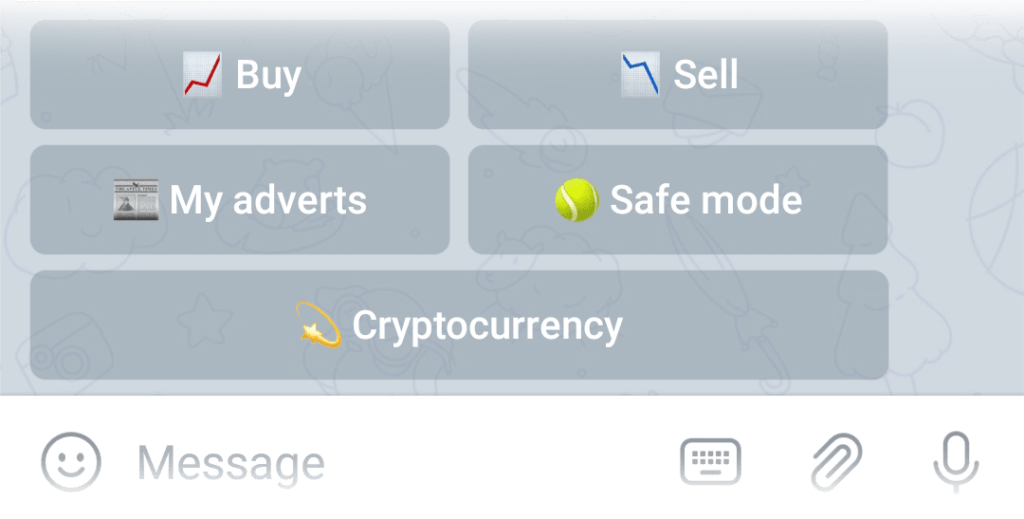 My adverts button in the Exchange menu