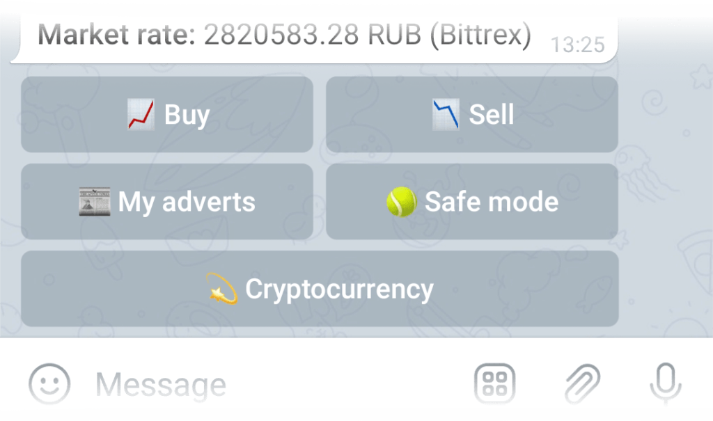 Safe mode button in the Exchange menu