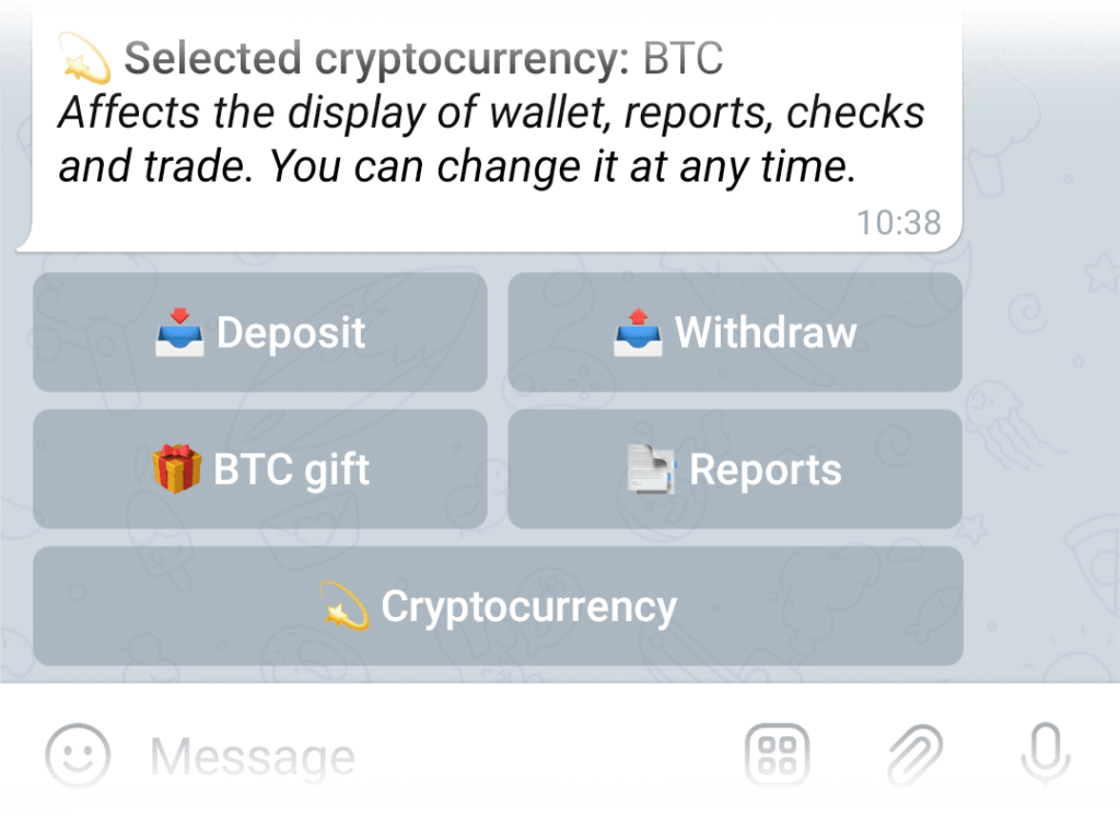 Withdraw button in the Wallet menu